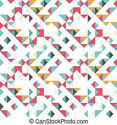 barevný, model, seamless, grafické pozadí, malý, neposkvrněný, trojúhelník