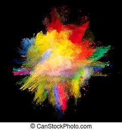 barevný, oprášit