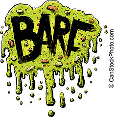 Barf Text - Plattered, cartoon barf with the word BARF in...