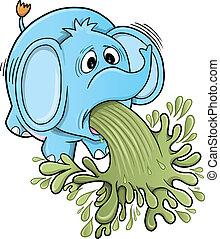 barfing, vomitar, elefante