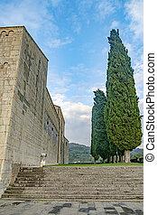 Barga castle in Tuscany, Italy