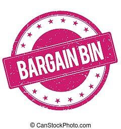 bargain-bin, magenta, señal, estampilla, rosa