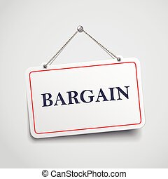 bargain hanging sign