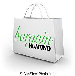 Bargain Hunting Deals Sales Shopping Bag 3d Illustration