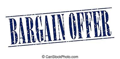 bargain offer blue grunge vintage stamp isolated on white background
