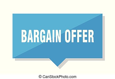 bargain offer price tag - bargain offer blue square price...