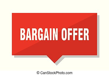 bargain offer red tag - bargain offer red square price tag
