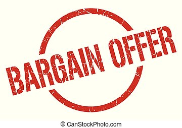 bargain offer stamp - bargain offer red round stamp