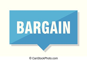 bargain price tag - bargain blue square price tag