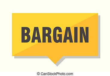bargain price tag - bargain yellow square price tag