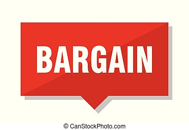 bargain red tag - bargain red square price tag