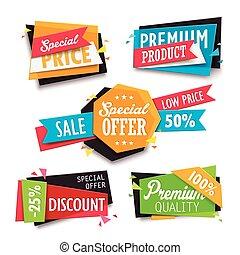 bargain sale label set - Attractive bargain sale label set...