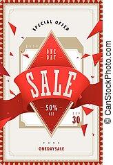 bargain sale poster - Simplicity bargain sale poster design...
