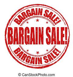 Bargain sale stamp - Bargain sale grunge rubber stamp on...