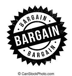 Bargain stamp rubber grunge