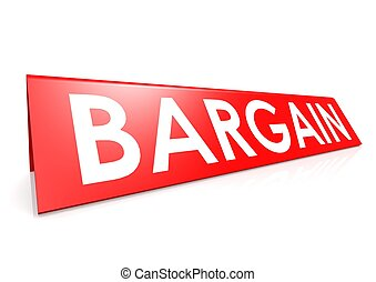 Bargain tag in red