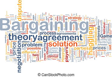 Bargaining background concept - Background concept wordcloud...