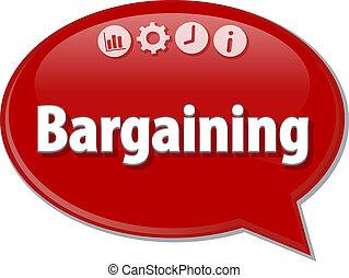 Bargaining   Business term speech bubble illustration