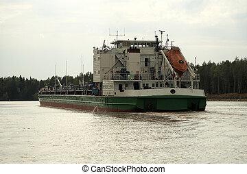 barge., オイル