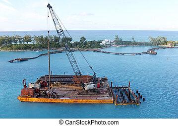 Barge in Nassau