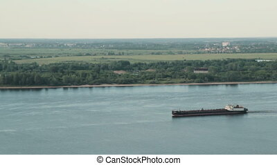Barge on the river - barge on the river, HD