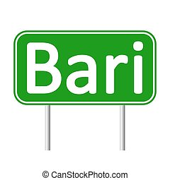Bari road sign. - Bari road sign isolated on white...