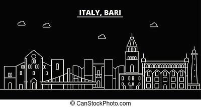 Bari silhouette skyline. Italy - Bari vector city, italian...