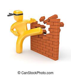 bariery, rozerwanie