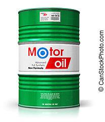 baril, à, huile moteur, lubrifiant, isolé, blanc, fond