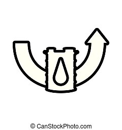 baril, essence, flèche ascendante
