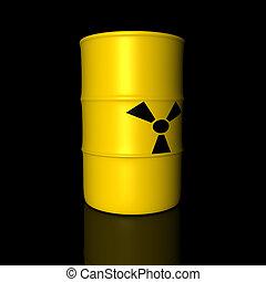 baril, radioactif