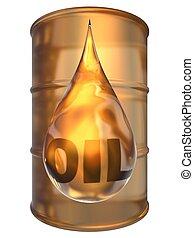 barile, goccia, olio