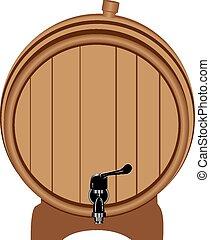 barile legno, rubinetto