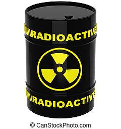 barile, materiali, radioattivo