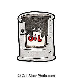 barile, olio, cartone animato