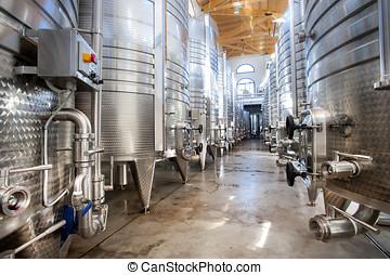 barili, alluminio, vino
