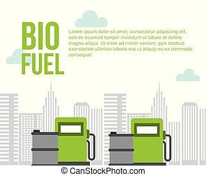 barili, città, biofuel, gas, ambiente, pompa, stazione