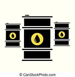barili, olio, illustrazione, vettore