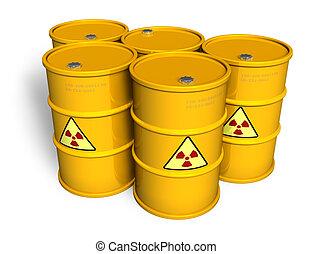 barili, radioattivo