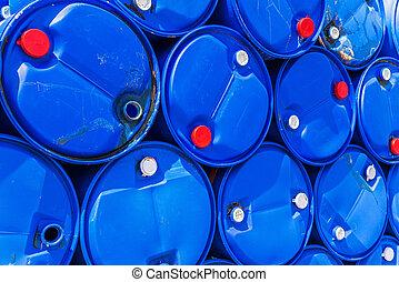 barils, gaspillage chimique, lot, décharge