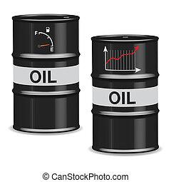 barils, huile, crise