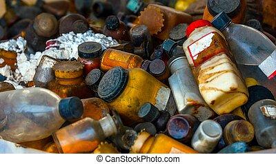 barils, toxique, plusieurs, gaspillage