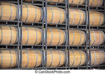 barils, vignoble, vin