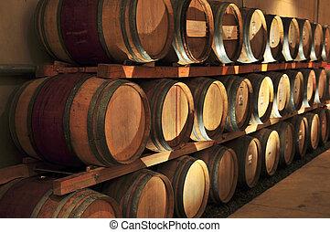 barils, vin