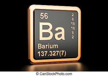 Ba render bario elemento qumico forma tabla clipart bario elemento tabla peridica bario ba qumico element 3d interpretacin urtaz Images