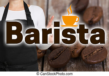 Barista concept is shown by coffee roaster