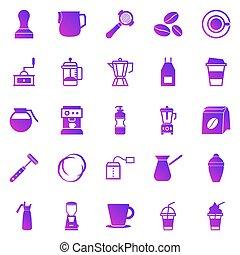 Barista gradient icon on white background, stock vector