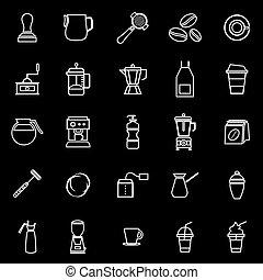 Barista line icon on black background