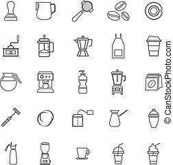Barista line icon on white background