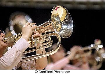 Baritone, big trumpet in a brass wind band